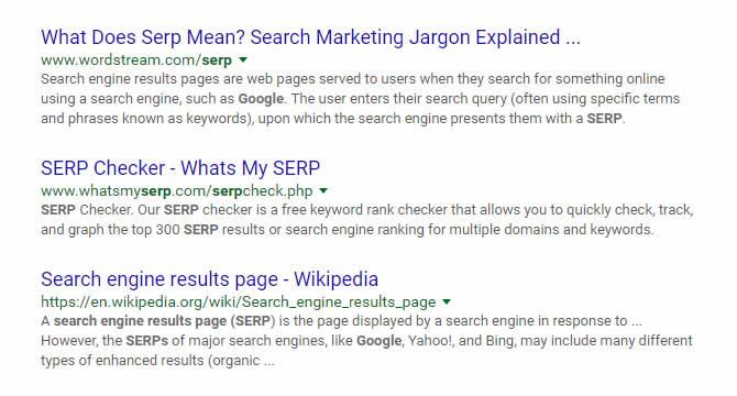 Google SERPs Update